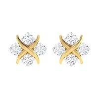 Qadira Gold Stud Earring