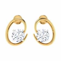 Qanna Gold Stud Earring