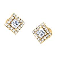 Qumla Gold Stud Earring