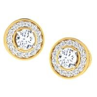 Quish Gold Stud Earring
