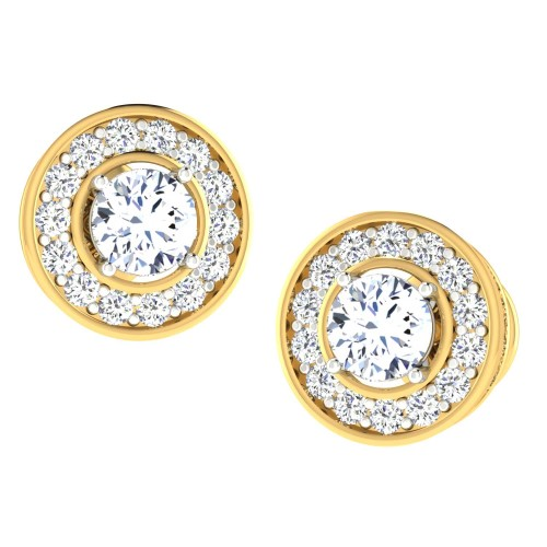 Quish Gold Stud Earring