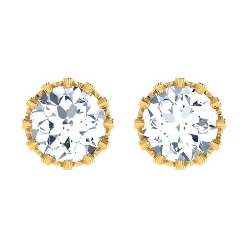 Qureshi Gold Stud Earring