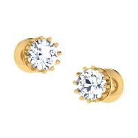 Qureshi Gold Stud Earring