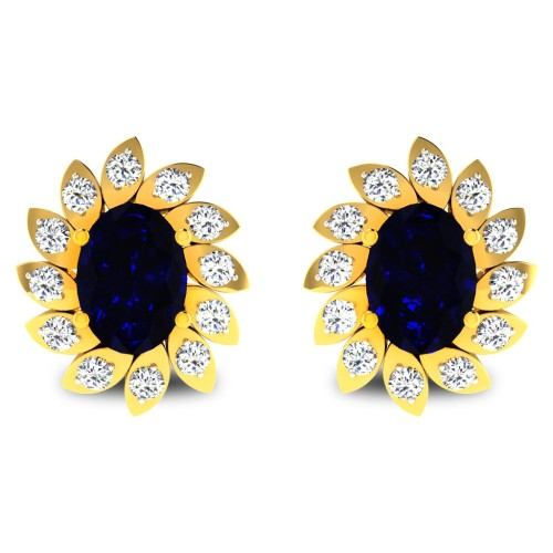 Queezi Gold Stud Earring