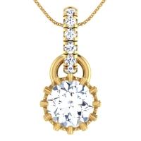Sabhramati Gold Pendant
