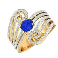 Aashirya Simulated Diamond and Gemstone Ring