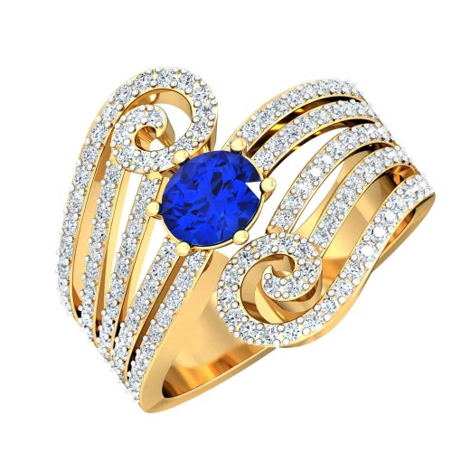 Aashirya Simulated Diamond and Gemstone Ring