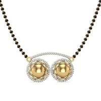 Aadhaya 18kt Yellow Gold Diamond Mangalsutra