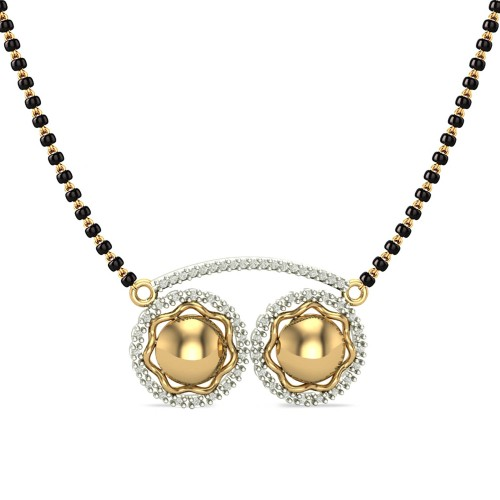 Aadhaya 18kt Yellow Gold Diamond Mangalsutra