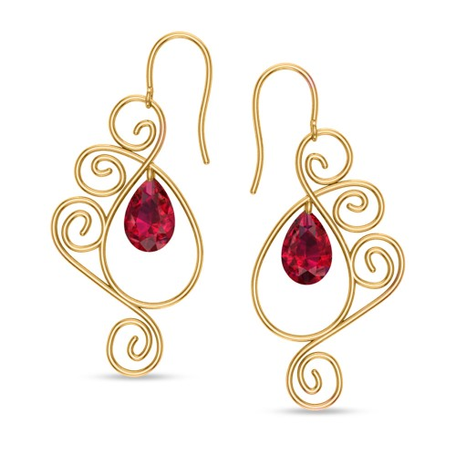 Babitha Yellow Gold Drop Earrings