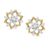Badarivasa Yellow Gold Stud Earrings