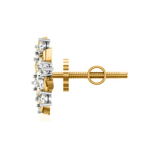 Badarivasa Yellow Gold Stud Earrings
