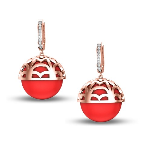 Bagavathi Rose Gold Drop Earrings
