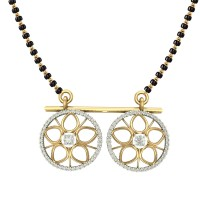 Tanuja yellow gold & diamond mangalsutra