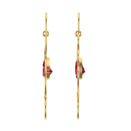 Valeria Ruby Drop Earrings