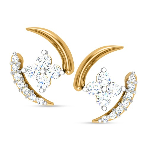 Caitalay Yellow Gold Stud Earnings
