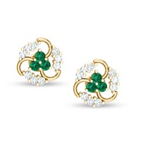 Meenu Emerald Stud Earrings