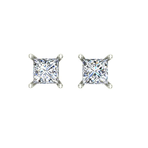 Aaravi White Gold Stud earring