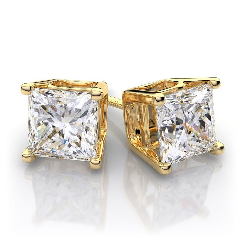 Aaravi Yellow Gold Studs