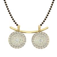 Samhita Gold Plated Diamond Mangalsutra