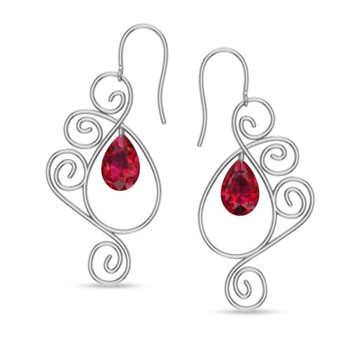 Babitha White Gold Drop Earrings
