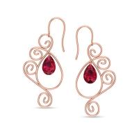 Babitha Ruby Drop Earrings