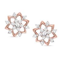 Badarivasa Rose Gold Stud Earrings
