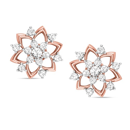 Badarivasa Rose Gold Stud Earrings