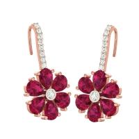 Eka Flower Drop Earrings