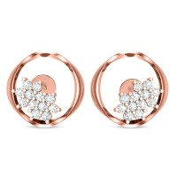 Eileena Rose Gold Stud Earrings