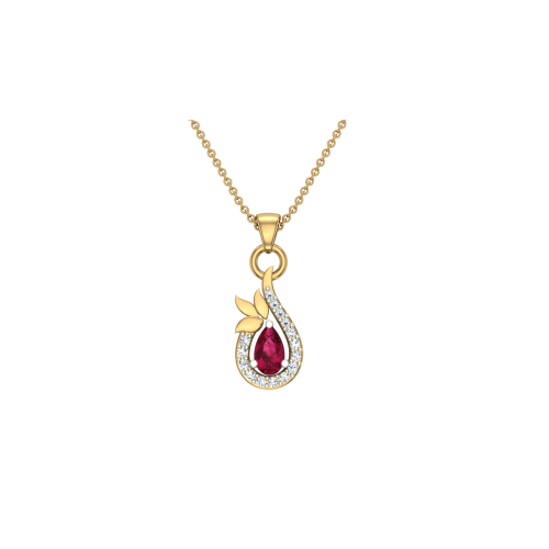Aditi18kt Gold & Diamond Pendant