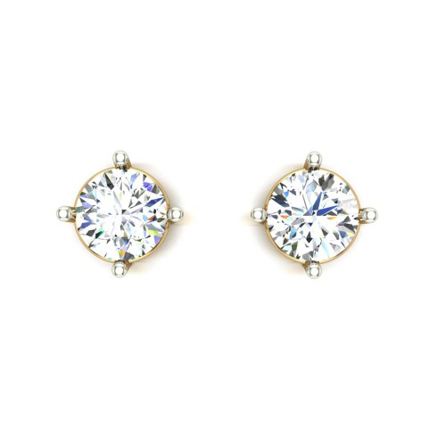Yellow Gold Stud Earrings for Women