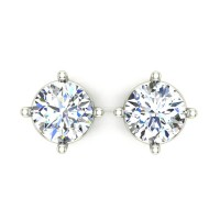 White Gold Stud Earrings for Women