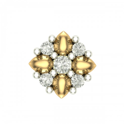 Jaanaki Rose Gold Diamond Nosepin Screw