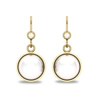 Naomi Pearl Drop Diamond Earrings