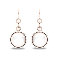 Azmin Pearl Drop Diamond Earrings