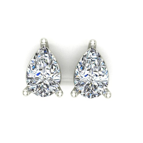 Aanandita White Gold Stud Earrings for Women