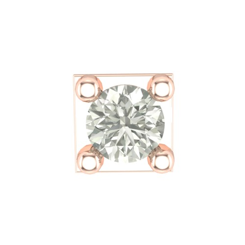 Beautiful Aaisha Rose Gold Diamond Nosepin