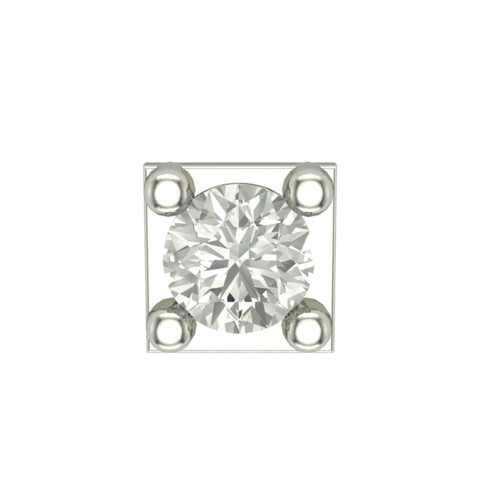 Beautiful Aakriti White Gold Diamond Nosepin