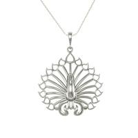 925 Sterling Silver Designer Peacock Shape Pendant