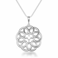 925 Sterling Silver Designer Round Shape Pendant