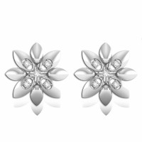 925 Sterling Silver Flower Shape Della Studs