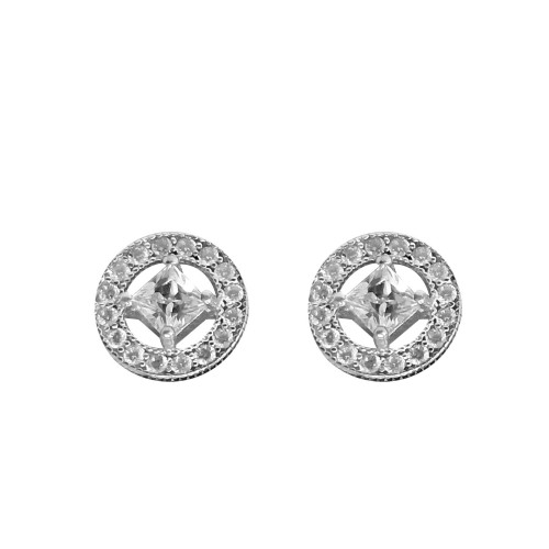 925 Sterling Silver Ahana Studs