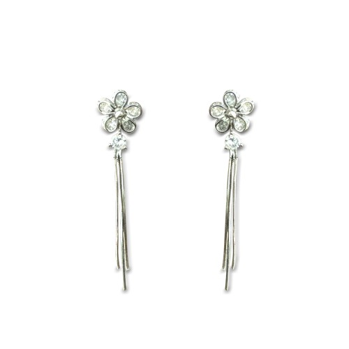 925 sterling silver flower drops