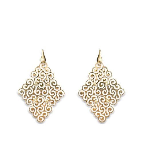 925 Sterling Silver Italian Gold Drops