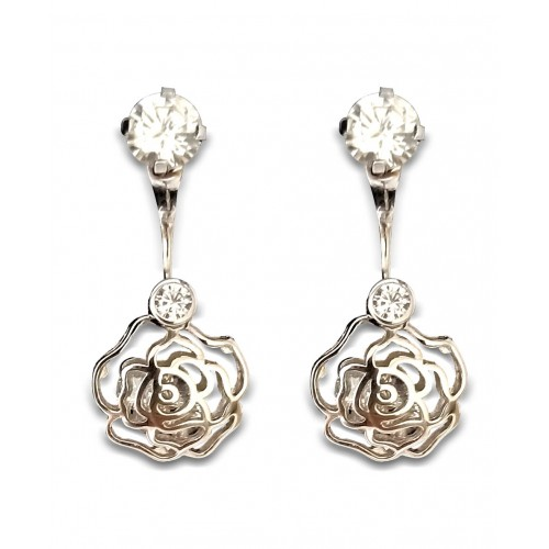 925 Sterling Silver Rose Drops