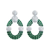 925 Sterling Silver Saanvi Drop Earrings