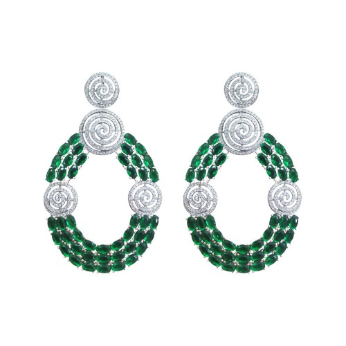 925 Sterling Silver Saanvi Chand Balis