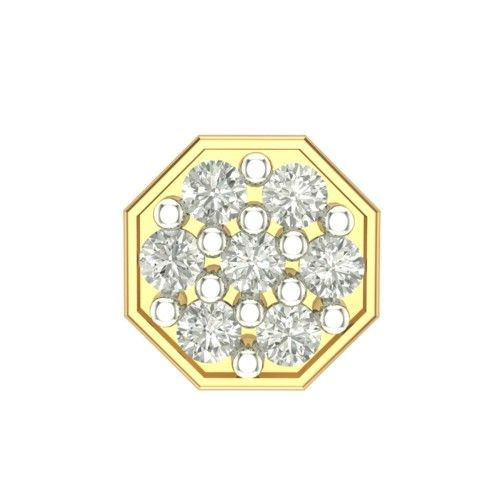 Beautiful Aapti Yellow Gold Diamond Nosepin