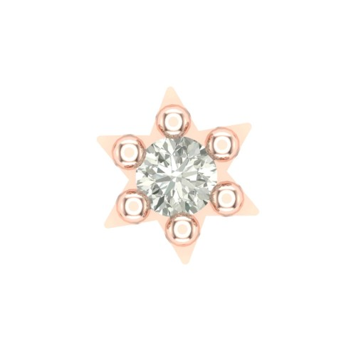 Beautiful Aarti Rose Gold Diamond Nosepin